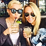 Miley Cyrus celebrated the start of the week with her mom and margaritas.