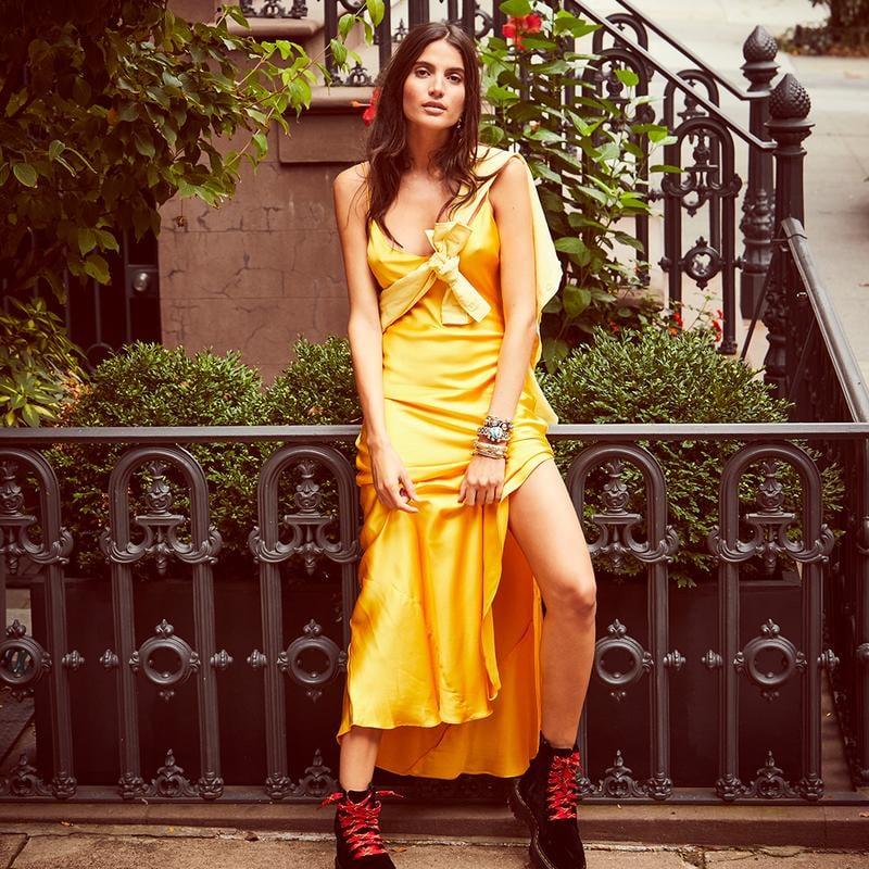 DANNIJO Sunflower Slip Dress