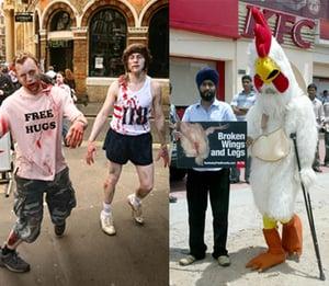PETA Leads Zombie Protest Outside Manhattan KFC