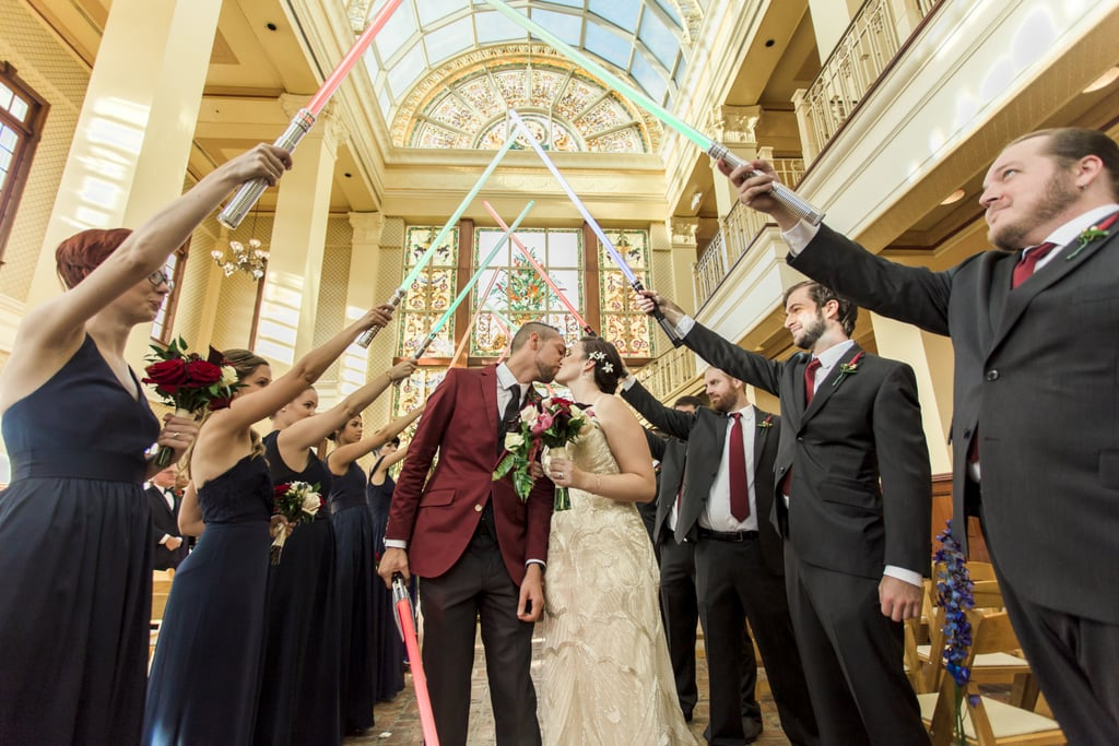 You've Got to See the Light Saber Duel in This Star Wars and Great Gatsby-Themed Wedding