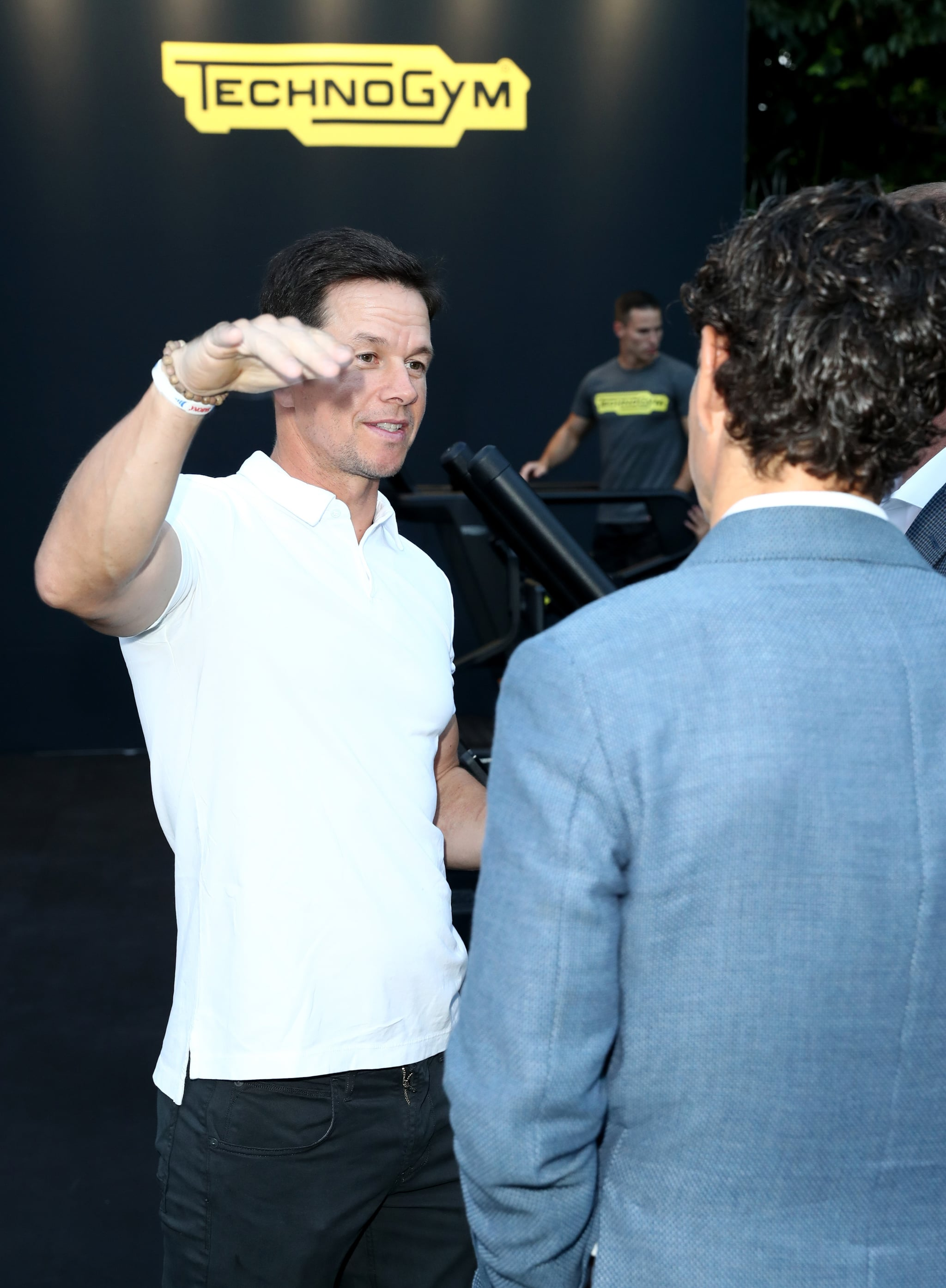 BEVERLY HILLS, CA - AUGUST 30:  Mark Wahlberg attends Rolls Royce X Technogym at the home of Gunnar Peterson on August 30, 2018 in Beverly Hills, California.  (Photo by Joe Scarnici/Getty Images for Technogym)