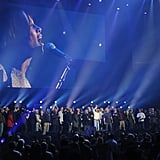 Alicia Keys was on stage in NYC.