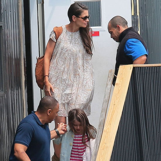Katie Holmes and Suri Cruise Helicopter Pictures