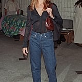 Back in 1998, She Made Mom Jeans Look Fabulous With a Sheer Blouse and Platforms