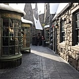 There is no Diagon Alley part of the park — yet.