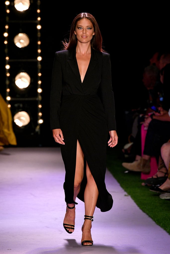 Emily DiDonato on the Brandon Maxwell Runway at New York Fashion Week
