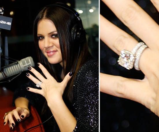 Khloe Kardashian Celebrity Engagement Ring Pictures POPSUGAR