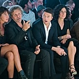 Agnese Sat Front Row at the Diesel Black Gold Runway Show