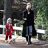 Gwen Stefani brought son Zuma along for a walk in the park with their dog.