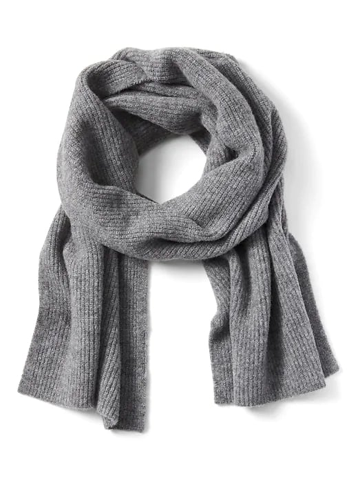 Aire Ribbed-Knit Blanket Scarf