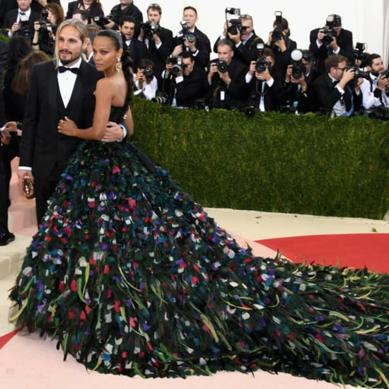 Zoe Saldana and Marco Perego at Met Gala 2016