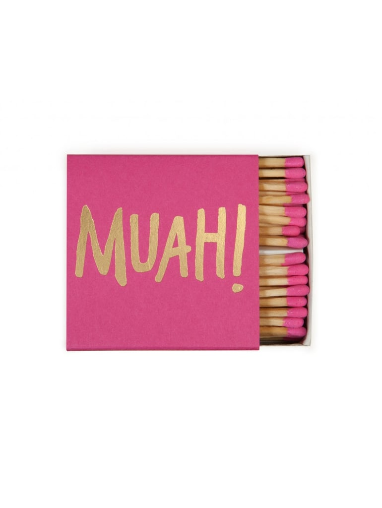 This Muah! Matchbook ($6) is perfect for lighting romantic candles.