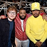 Ed Sheeran, DJ Khaled, and Chance the Rapper