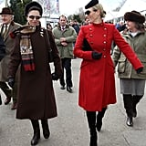 Princess Anne and Daughter Zara Phillips at the Cheltenham Racecourse in Cheltenham, England, in 2013