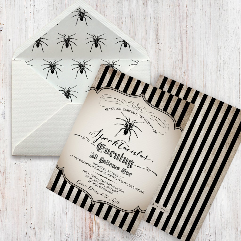 Vintage-Inspired Spider Halloween Party Invitation ($15+) ...