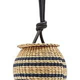 Poolside The Johnny Striped Straw Bag