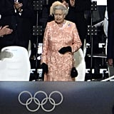 Her Majesty Wears Peach to the 2012 Olympics Opening Ceremony