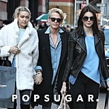 Kendall Jenner went shopping with pals Cody Simpson and Gigi Hadid in NYC on Sunday.