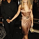 A barely recognisable blonde, be-fringed Cheryl went sexy in liquid jersey at the 21st Anniversary Party for Elle Magazine in 2006.