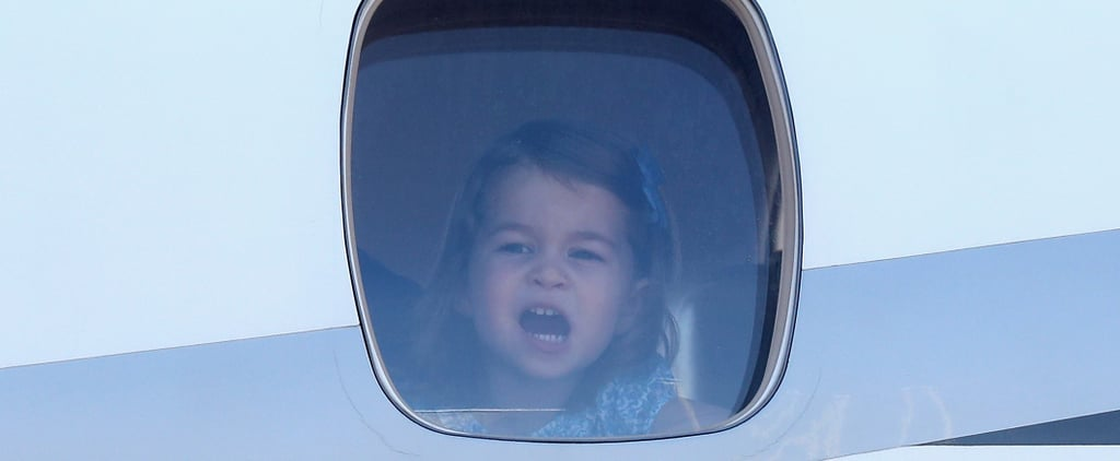 Afraid of Flying? Let George and Charlotte Peeking Out of Their Plane Window Calm You