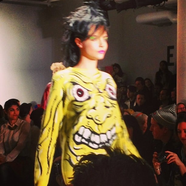 Cara Delevingne looked fierce in Jeremy Scott.