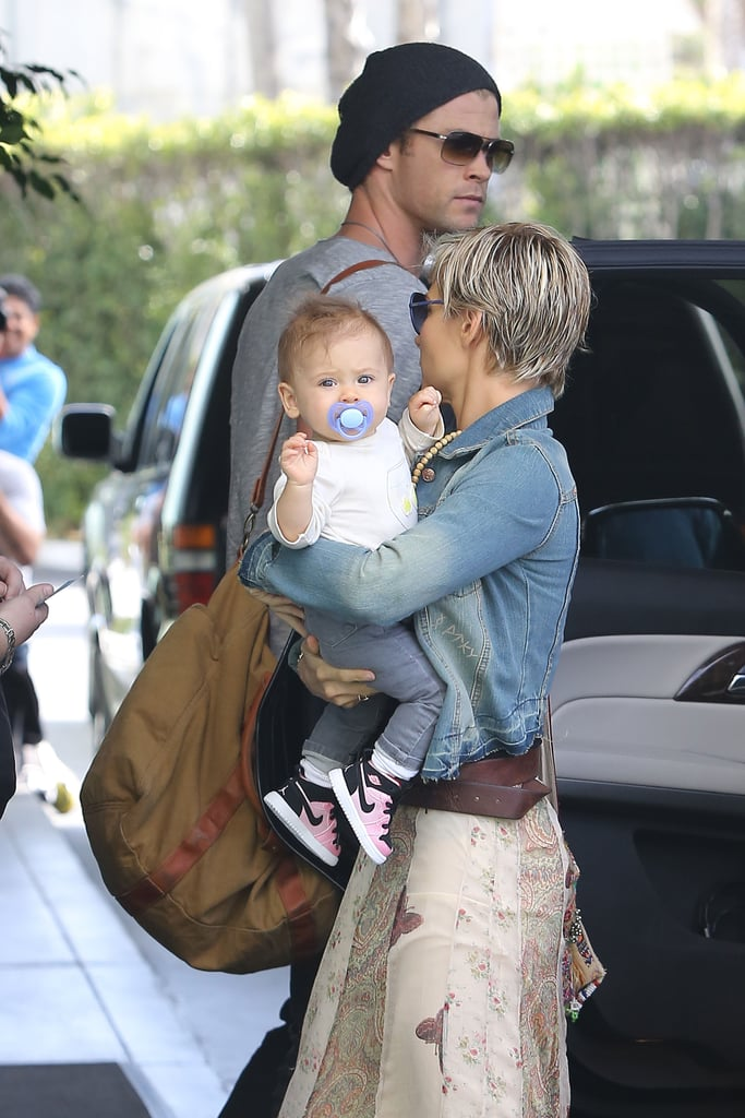 Chris Hemsworth Spends Time With His Girls Before Making a Family Trip to Australia