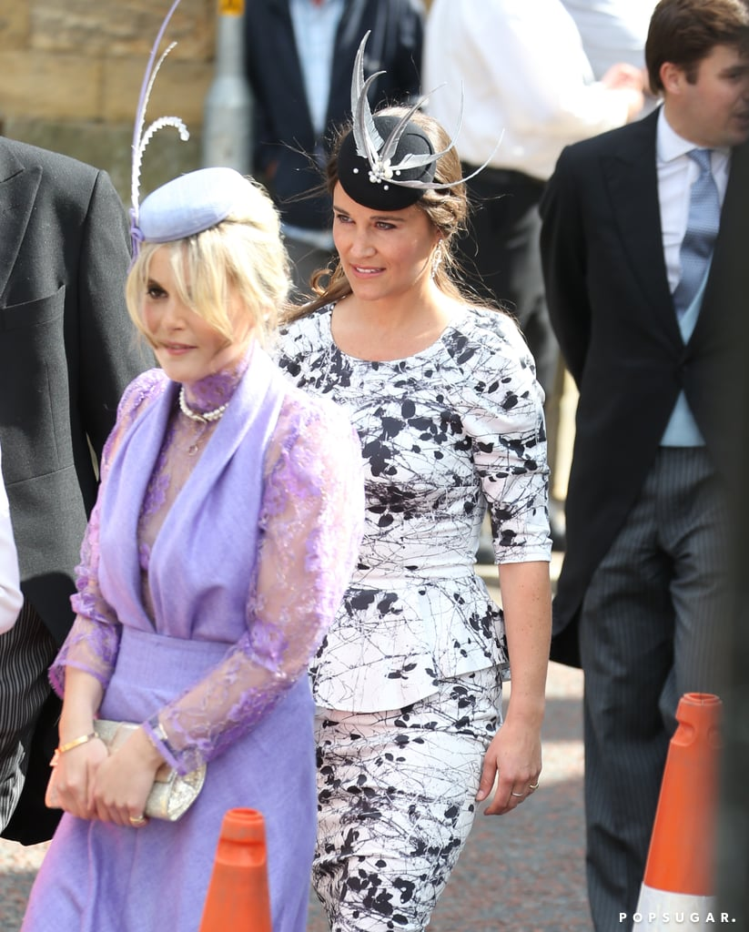 Pippa Middleton dressed up for the wedding of Melissa Percy and Thomas van Straubenzee.