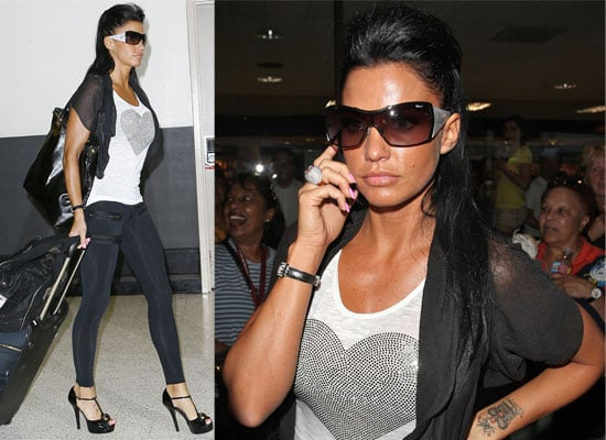 Photos Of Katie Price aka Jordan Arriving In Los Angeles After Her Interview With Piers Morgan, Fee Given To Charity