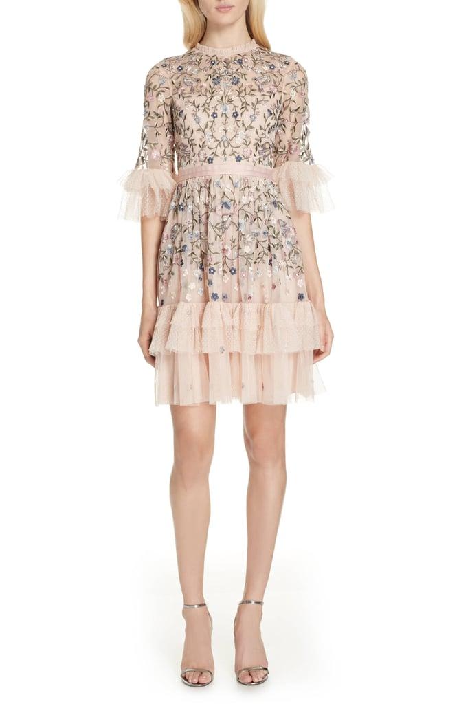 df930b46528d Needle & Thread Dusk Floral A-Line Dress | Queen Letizia's Pink Bird ...
