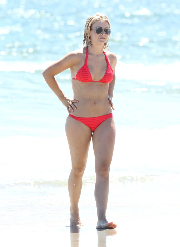 Julianne Hough Breaks Out Her Bikini For a Dog Day at the Beach