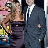 Jennifer Aniston and her co-star Jason Sudeikis helped celebrate their new movie, We're The Millers, at the premiere at the Ziegeld Theatre in New York on August 1.