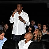 Jay-Z and wife Beyoncé Knowles together in NYC.