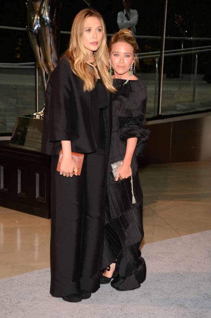 Elizabeth and Mary-Kate Olsen were dressed in black for the event.