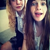 Elle Fanning snapped cute photos with a friend.  Source: Instagram user lafemmefanning