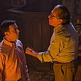 Colin Hanks as Travis Marshall and Edward James Olmos as Professor Gellar on Dexter.  Photo courtesy of Showtime