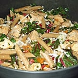 Whole Wheat Pasta With Chicken, Chard, and Peppers