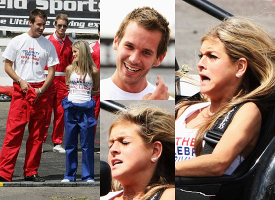 Photos Of Alex Wotherspoon And Nikki Grahame At The British Motor Show's Celebrity Driving Challenge