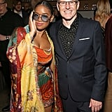H.E.R. and Peter Edge at the 2020 Sony Music Grammys Afterparty