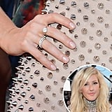 She might have gone rocker chic with her studded gown, but Elie Goulding kept things sweet on her nails with her sheer pink polish.
