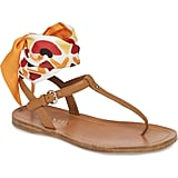 Prada Ankle Tie T-Strap Sandal