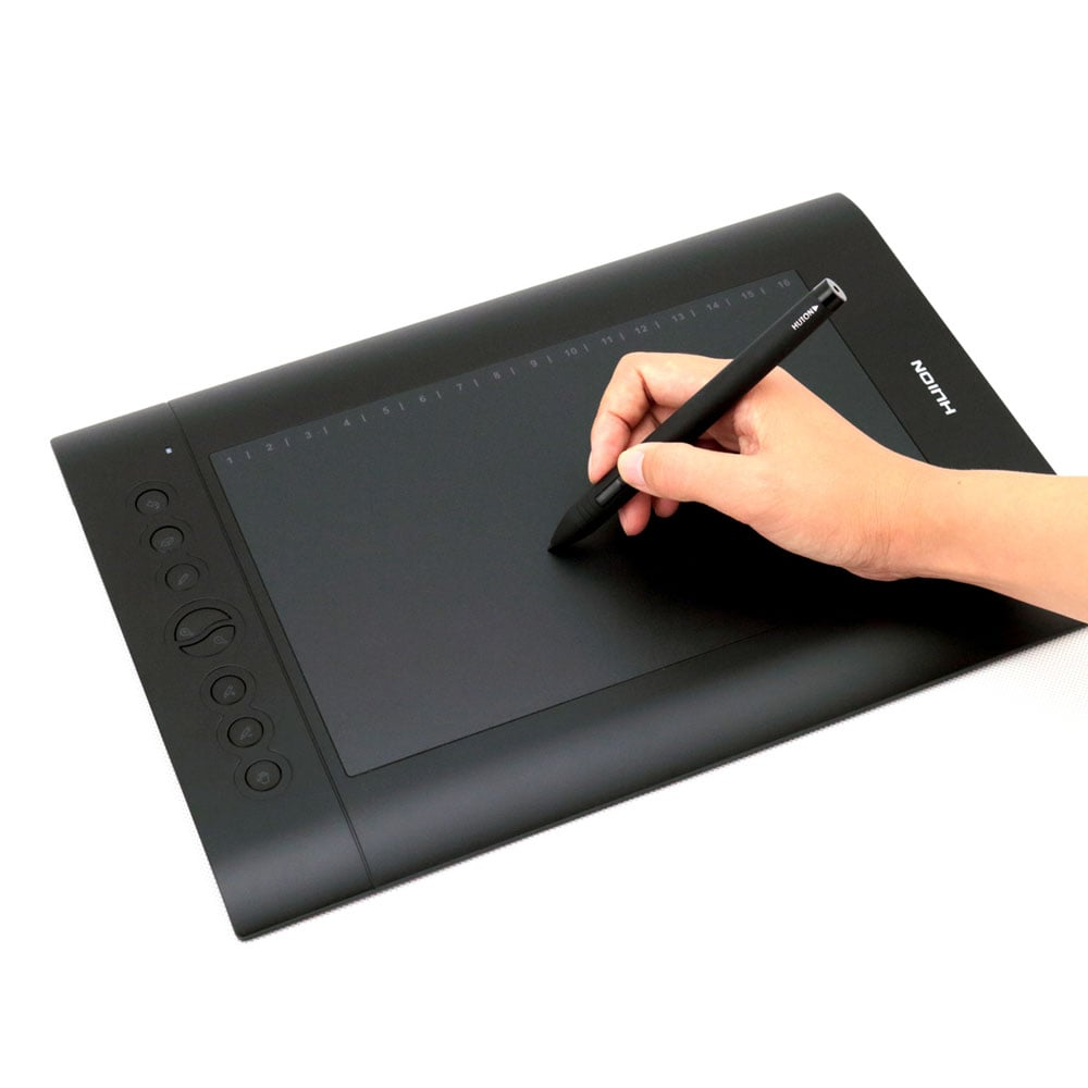 Pro Graphic Drawing Tablet Tilt Function Battery-Free Stylus