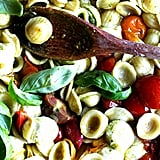 Orecchiette With Cherry Tomatoes, Mozzarella, and Basil Pesto