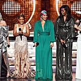 Lady Gaga, Jada Pinkett Smith, Alicia Keys, Michelle Obama, and Jennifer Lopez presented together at the ceremony in 2019.