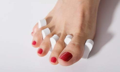beauty masterclass how to maintain your pedicure at home with tips from Footopia foot salon at Peter Jones