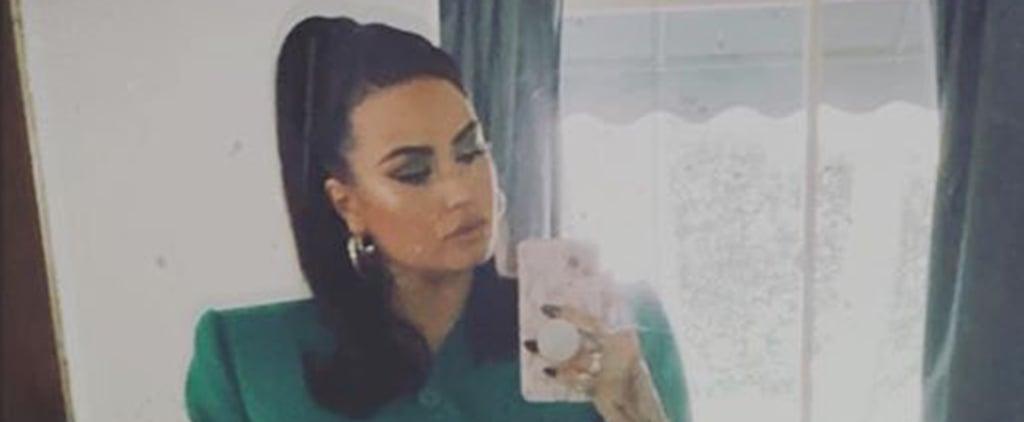 Demi Lovato's Green Blazer Dress From Instagram