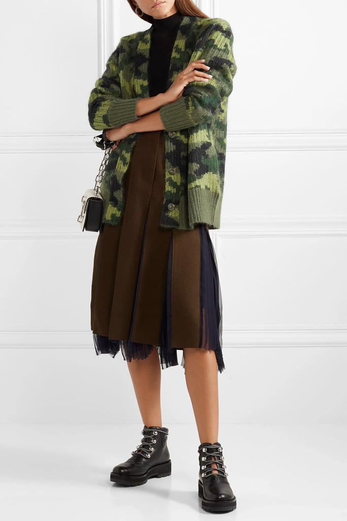 Proenza Schouler PSWL Wool Blend Jacquard Cardigan