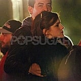Emma Watson and her boyfriend Will Adamowicz cuddled and kissed while watching Radiohead play Saturday.