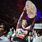 Ron Paul supporters rallied together.
