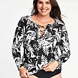 Old Navy Lace-Up Plus-Size Rashguard
