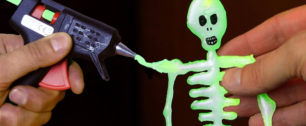 You'll Love This Quick Video on How to Make a Glow-in-the-Dark Skeleton For Halloween